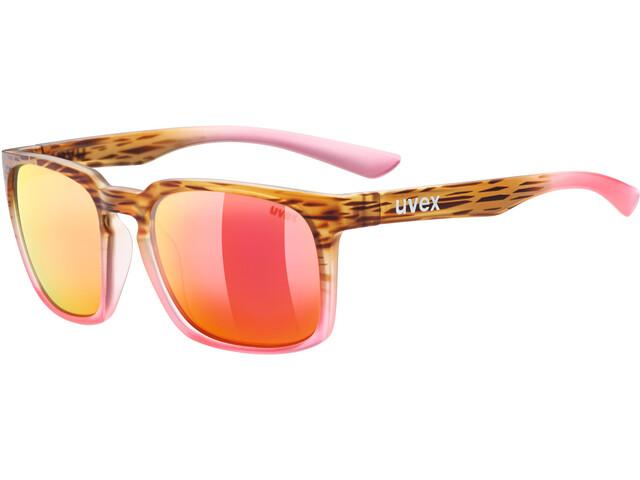 UVEX LGL 35 Lifestyle Glasses havanna pink/mirror red